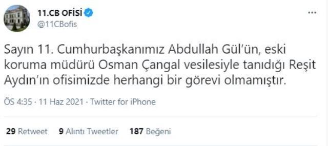 """""""Abdullah Gül'ün danışmanıyım"""" diyen Reşit Aydın istifa metni yayınladı, iddiaları yenilir yutulur cinsten değil"""
