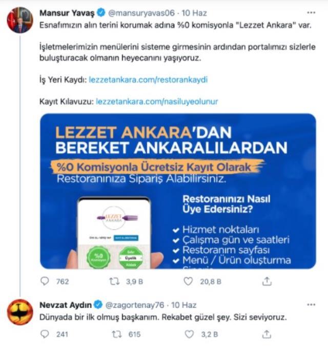 Yemek Sepeti CEO'sundan Mansur Yavaş'ın yeni projesine esprili gönderme: Rakip olmayan bir devlet kalmıştı