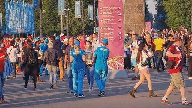 Maçı izleyenler saatten şüphe etti! Rusya'da gece vakti gündüz maçı