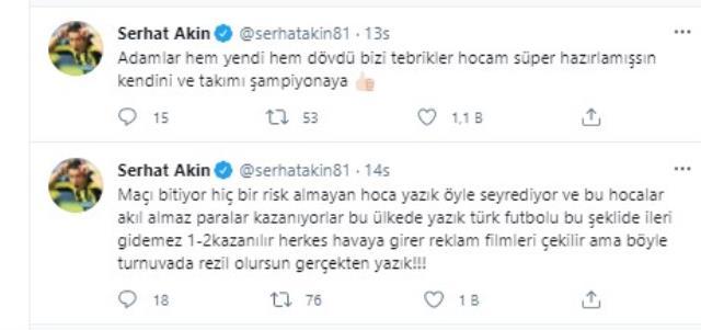 Eski milli futbolcu Serhat Akın, Şenol Güneş ve Kenan Karaman'a demediğini bırakmadı
