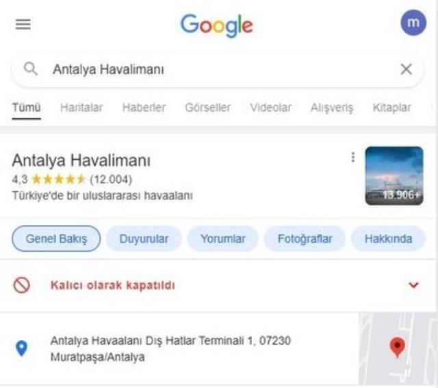 google dan skandal hareket antalya havalimani ni 14207478 5810 m