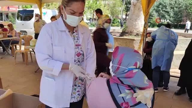 Gaziantep'in ilçelerinde aşı seferberliği sürüyor