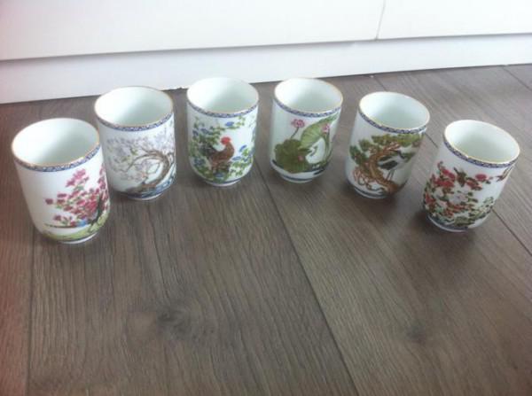 6 stuks prachtige Japans Franklin Mint Porcelain