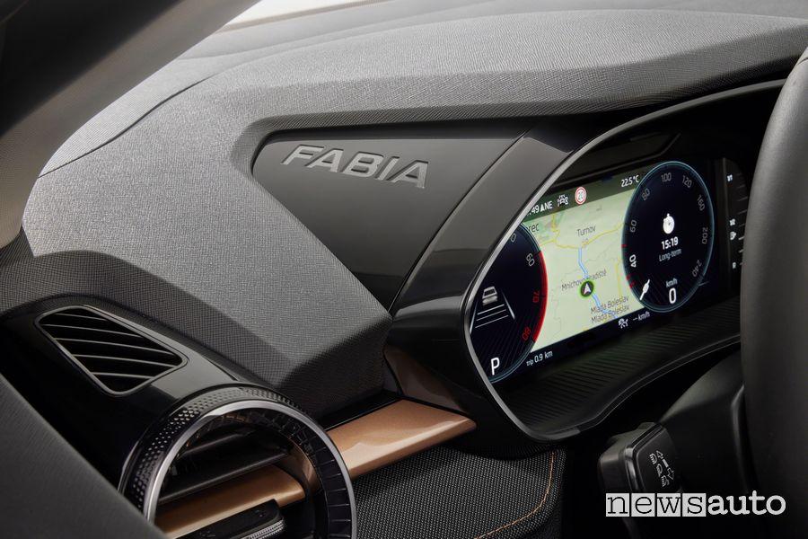 New Škoda Fabia cockpit instrument cluster