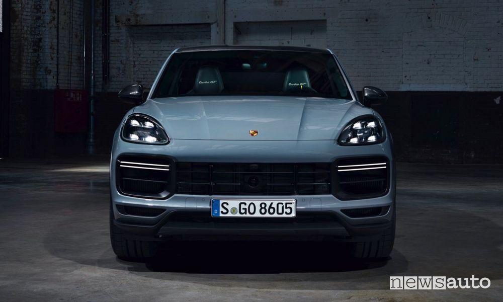 Front new Porsche Cayenne Turbo GT