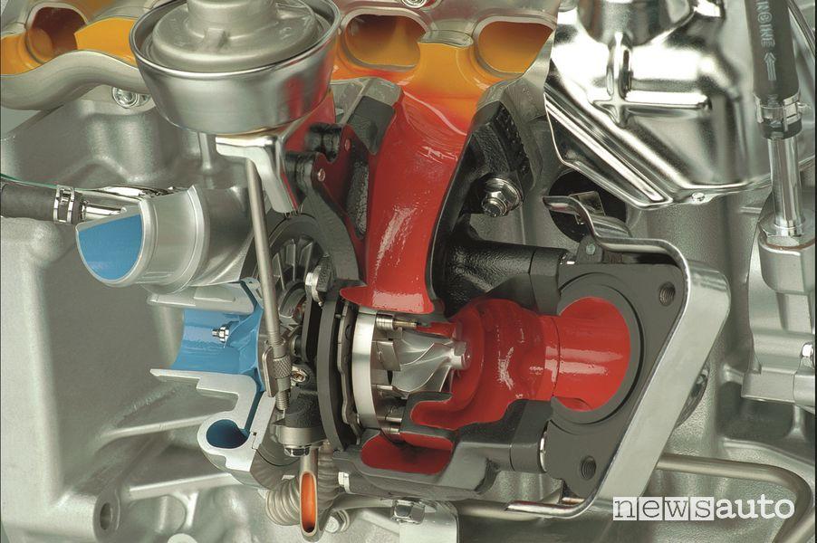 Honda i-CTDi diesel engine compressor side impeller
