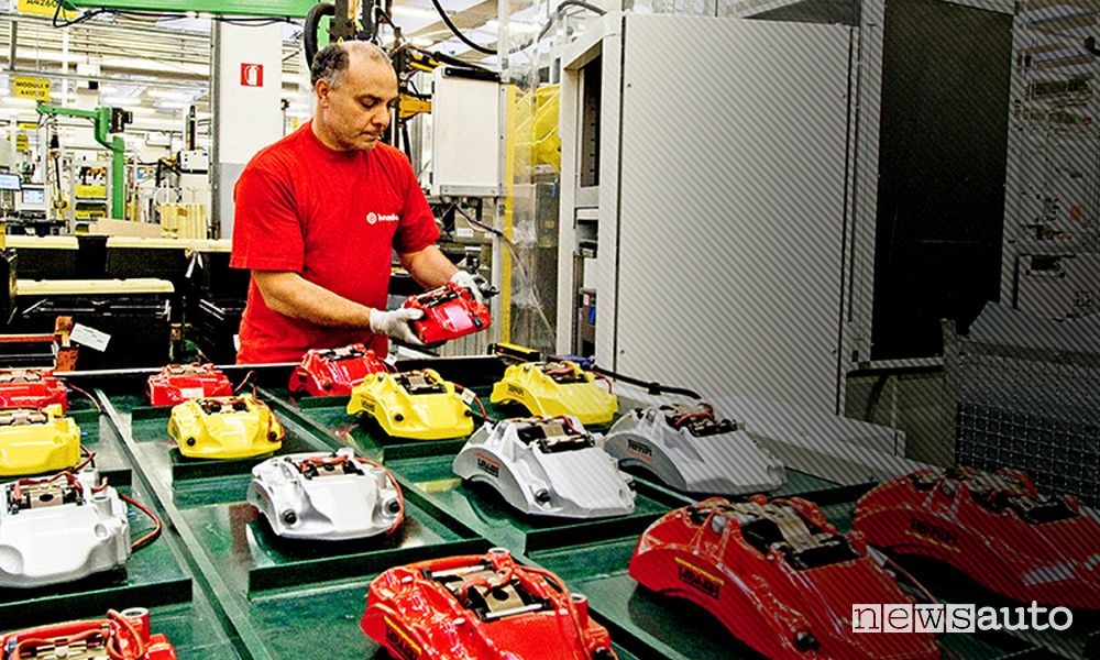 How many workers does Brembo have?