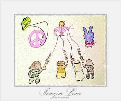 Crazy Art by me - Imagine Peace