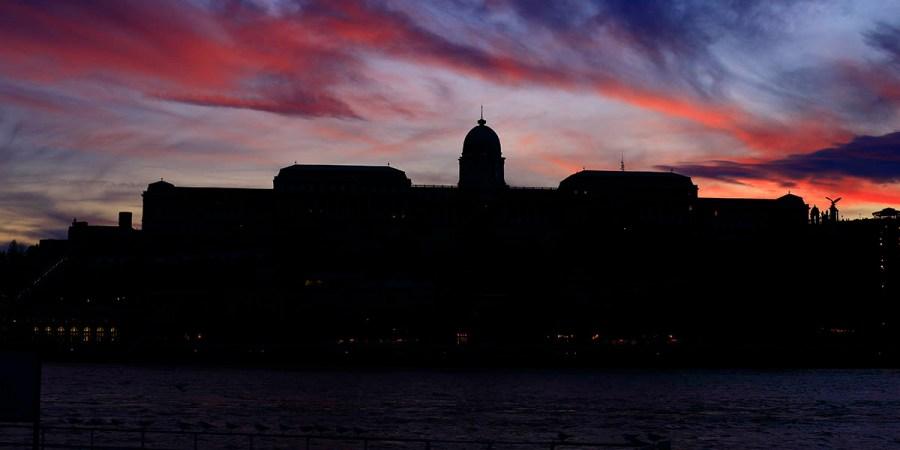 Buda Castle under the sky