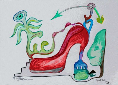 Crazy Art by me - The Red Shoe