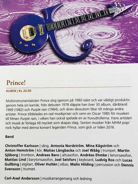 PRINCE - MHM - Malmö Live.