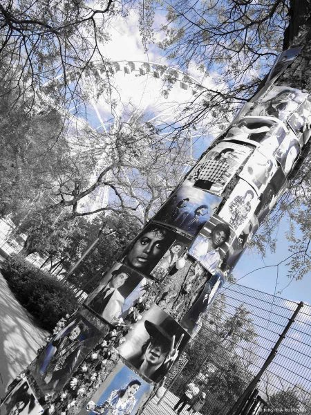 Michael Jackson has his own corner in Budapest, Erzebet Park.