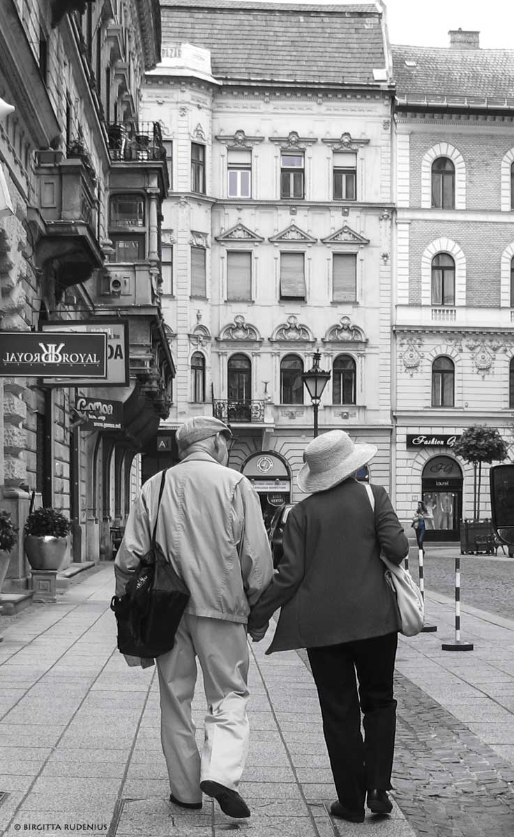 A beautiful old couple in Budapest.