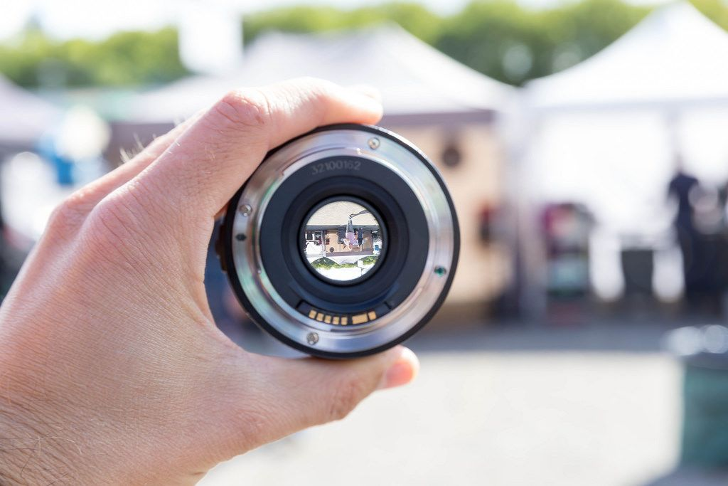 Camera Lens on a White Background  Creative Commons Bilder