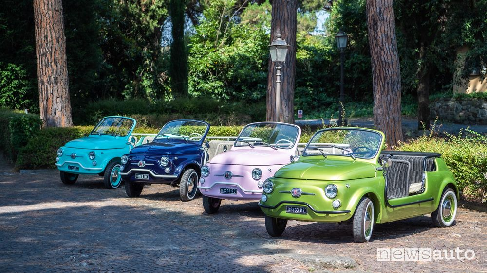 Fiat 500 Jolly Icon-e Electric beach in the new colors