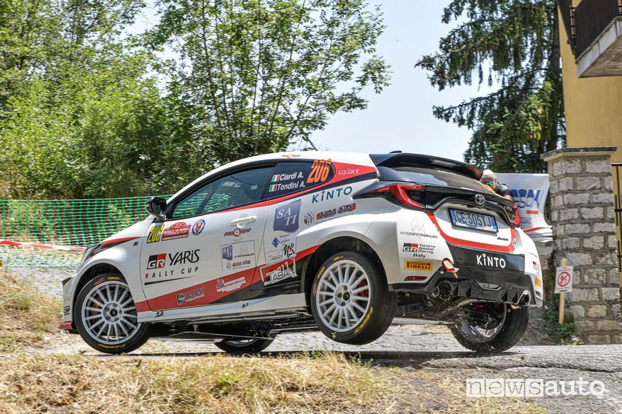 GR Yaris Rally Cup at the 2021 Rome Rally