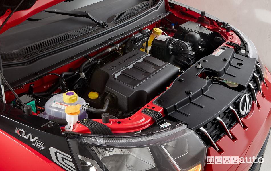 Mahindra KUV100 NXT engine compartment