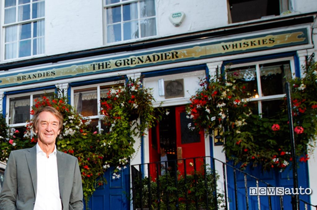 The Grenadier pub in London with Sir Jim Ratcliffe president of Ineos