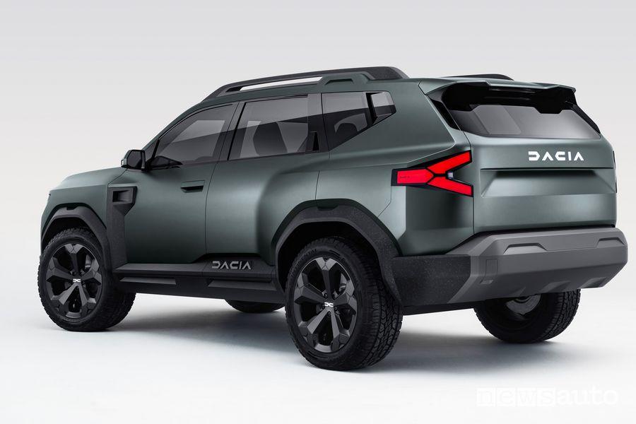 Rear view Dacia Bigster Concept