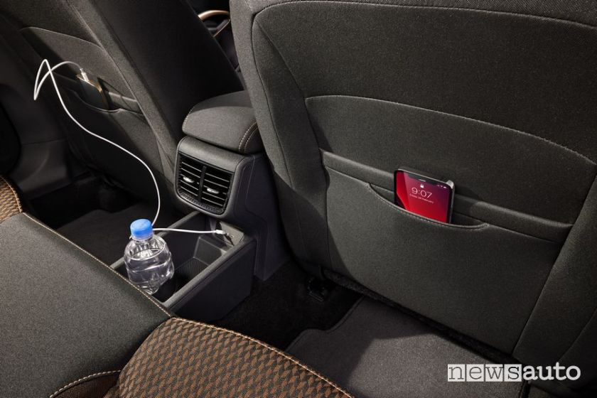 Smartphone holder rear passenger compartment new Škoda Fabia