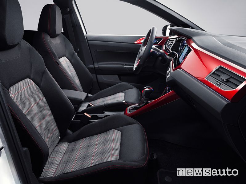 Front passenger seats of the new Volkswagen Polo GTI