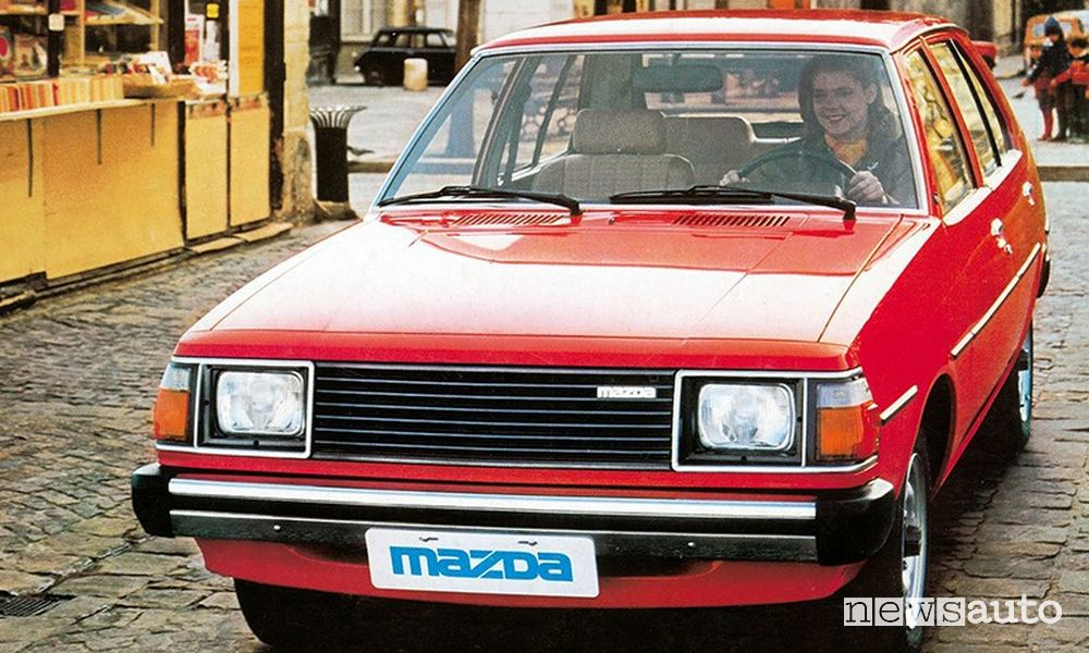 Mazda 323 red from 1979
