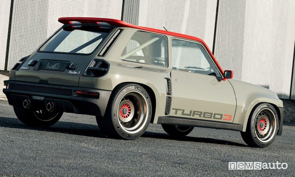 Rear view Renault R5 Turbo 3 restomod