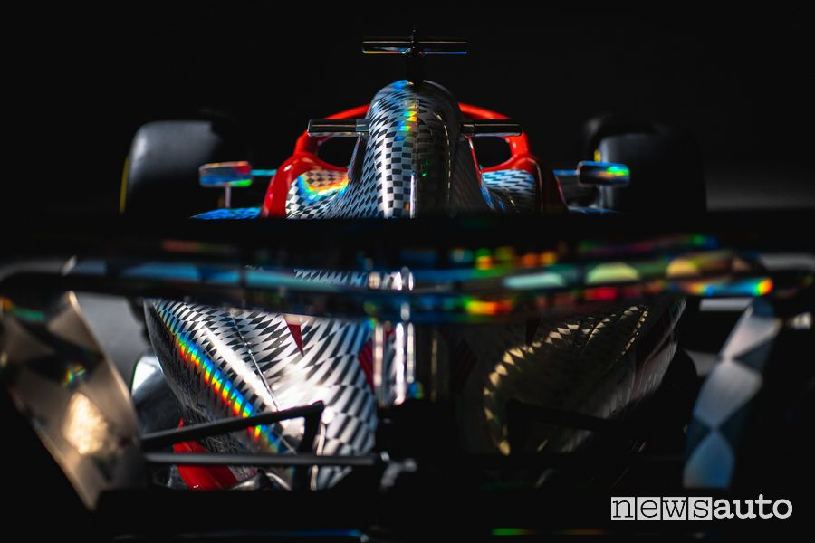 Rear wing of the new F1 2022 single-seater