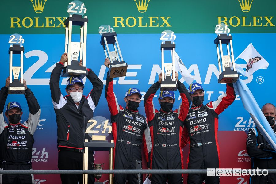 Final podium of the 24 Hours of Le Mans 2021