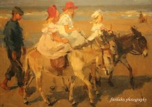 Donkey Rides on the Beach by Isaac Israel