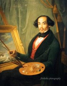 Portrait of Raden Syarif Bustaman Saleh by Friedrich Carl Albert Schreuel