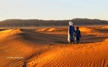 Golden Sand on Sahara Desert