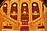 Main Hall of Royal Opera House Muscat. Stairs leading to Performance Hall
