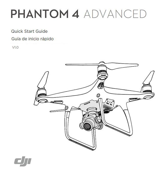Manual de Inicio Phantom 4 Advanced en Castellano