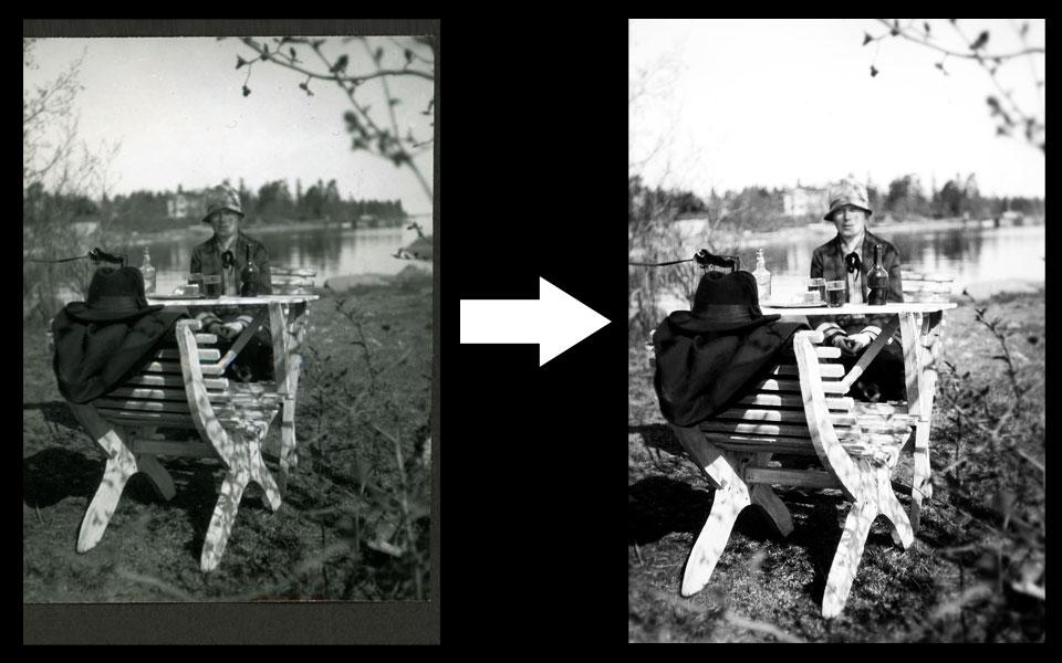 malli retusoidusta kuvasta