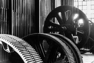 Technik in Schwarz-Weiß