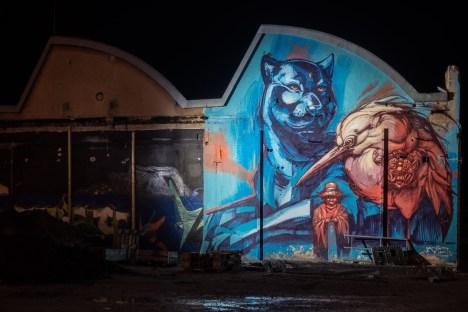 Werksviertel Graffiti Lichtwoche