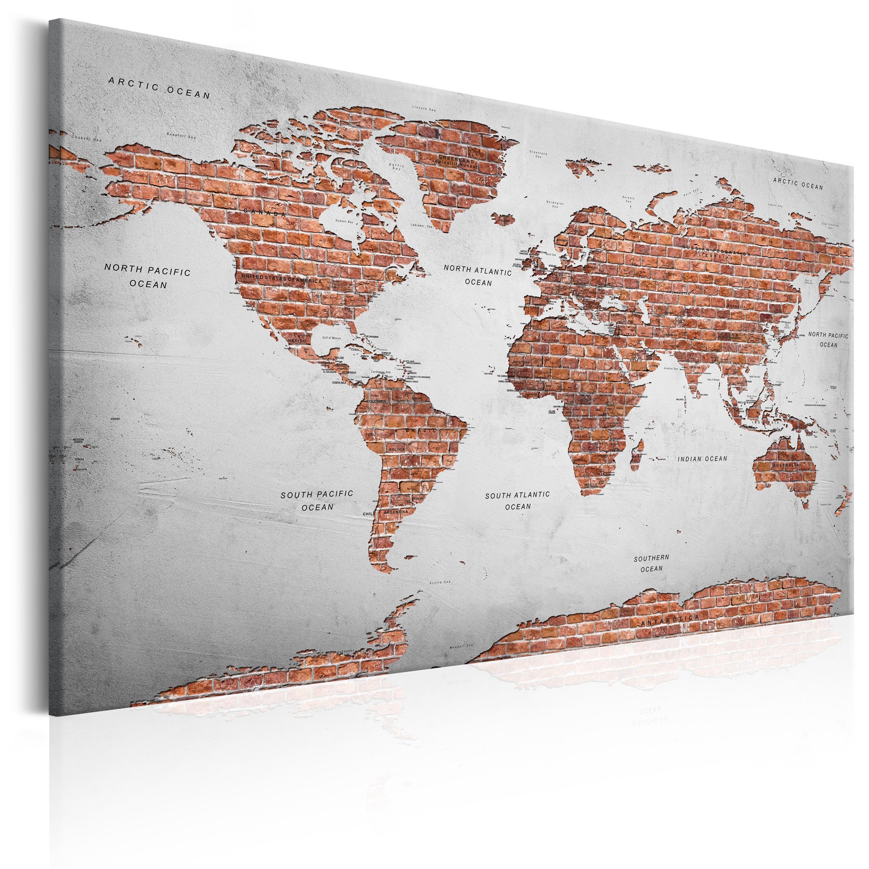 Weltkarte Leinwand Xxl Weltkarte Auf Leinwand Xxl Im