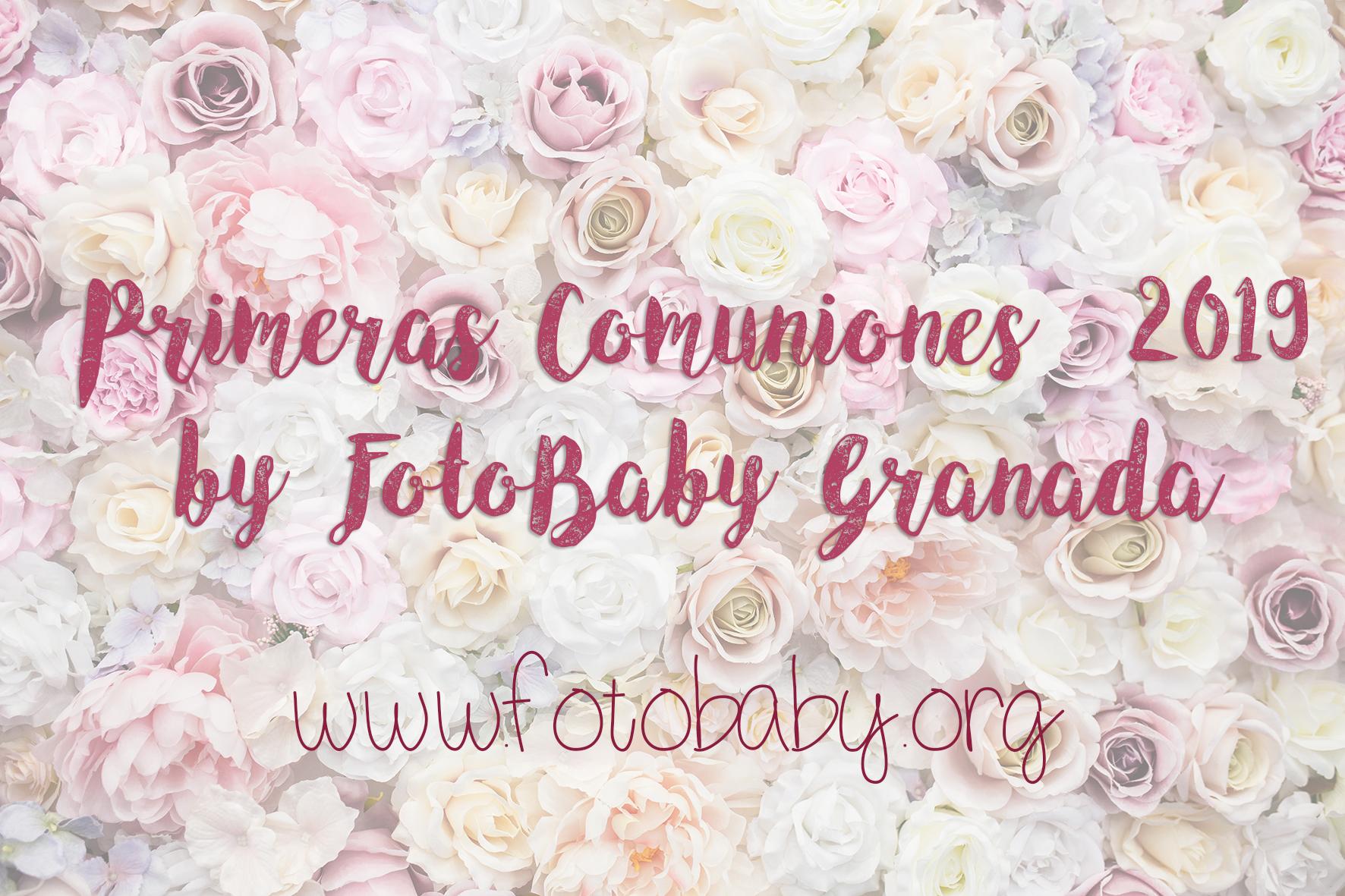 Reportajes de Comunión en Granada. Sesiones de estudio y exterior