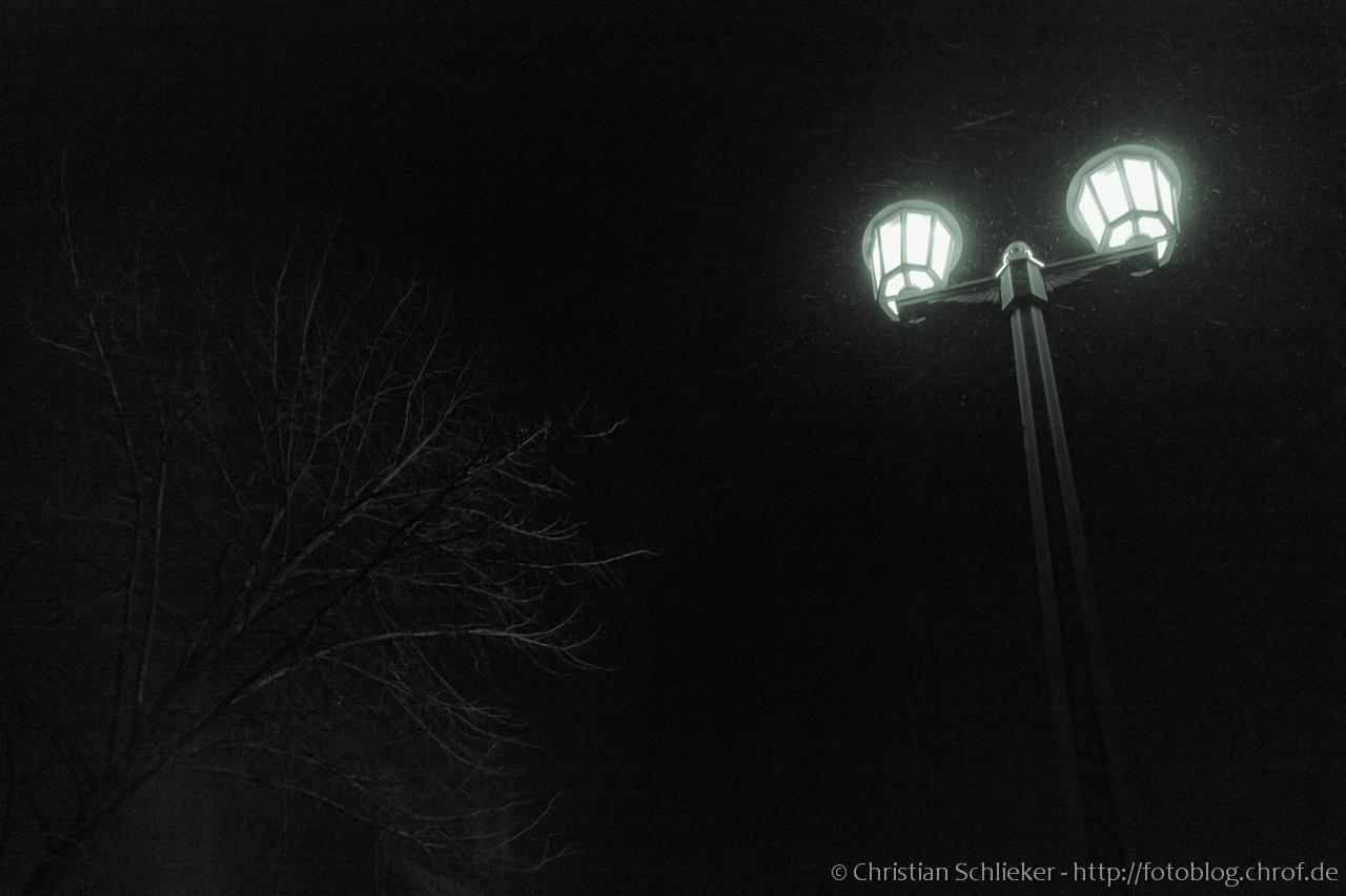 Gaslampe Nacht