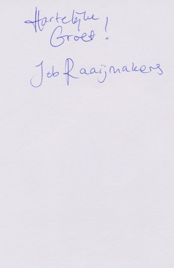 Job Raaijmakers back