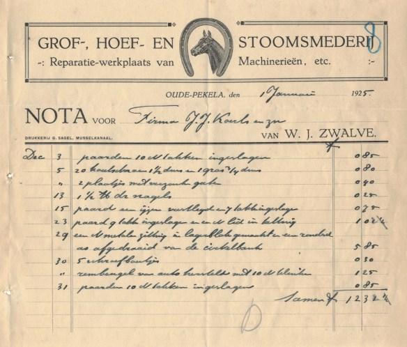 nota zwalve 1925