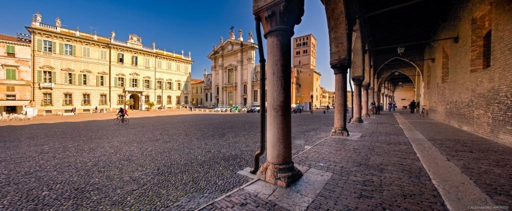 Piazza Sordello e Curia Vescovile Mantova