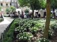 Plaza en el Casco Histórico de Santiago de Compostela, Galicia. 12 de Octubre de 2012