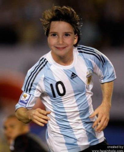 Fotomontaje de Leo Messi. Fotoefectos de Deportistas