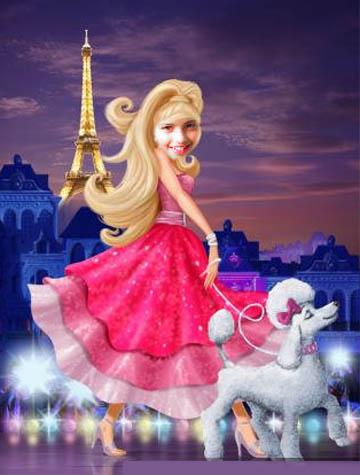 Fotoefecto Princesa Barbie gratis.