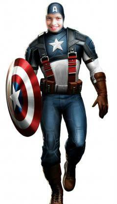 Fotoefecto Capitán América.