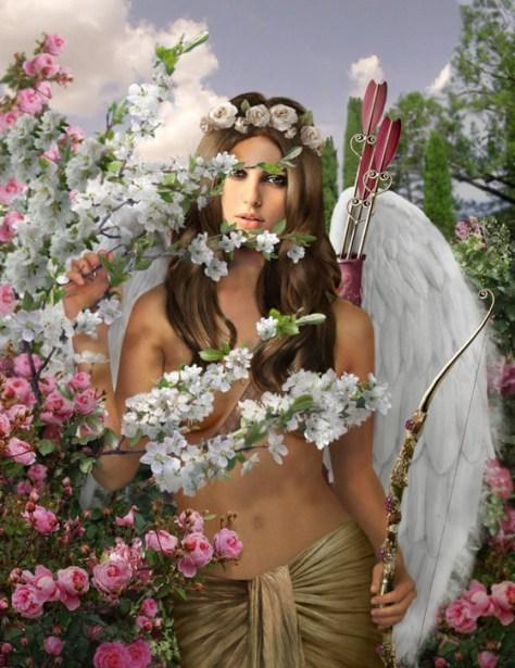 Foto montaje con Cupido.