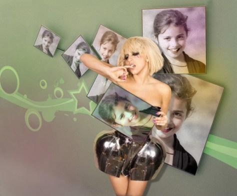 Montajes para hacer con Lady Gaga.