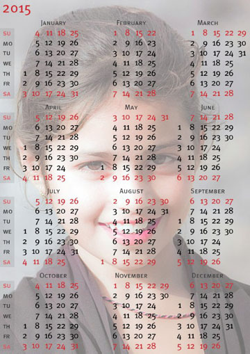 Calendarios con fotos 2015 - Calendarios navidenos personalizados ...